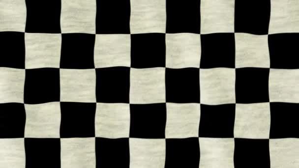Kostkované černé a bílé závodní vlajky