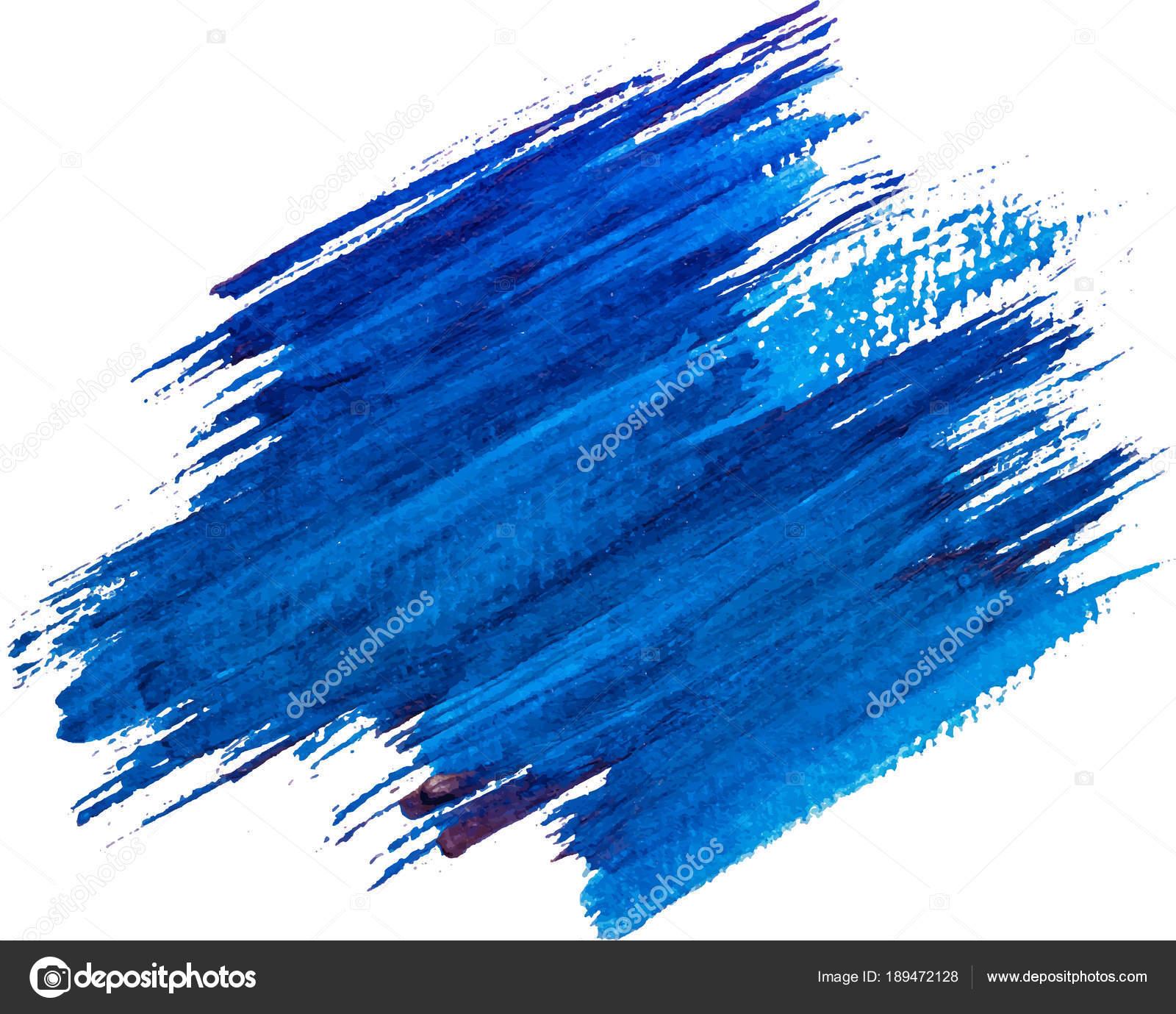 Blauen Aquarell Textur Farbe Färben Glänzend Pinselstrich ...