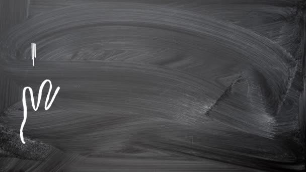 Silueta křída kresby animace na tabuli reklama rámu. Ruce držící kousek papíru plochá konstrukce. Kopírovat místa pro text uvnitř rámečku stránky