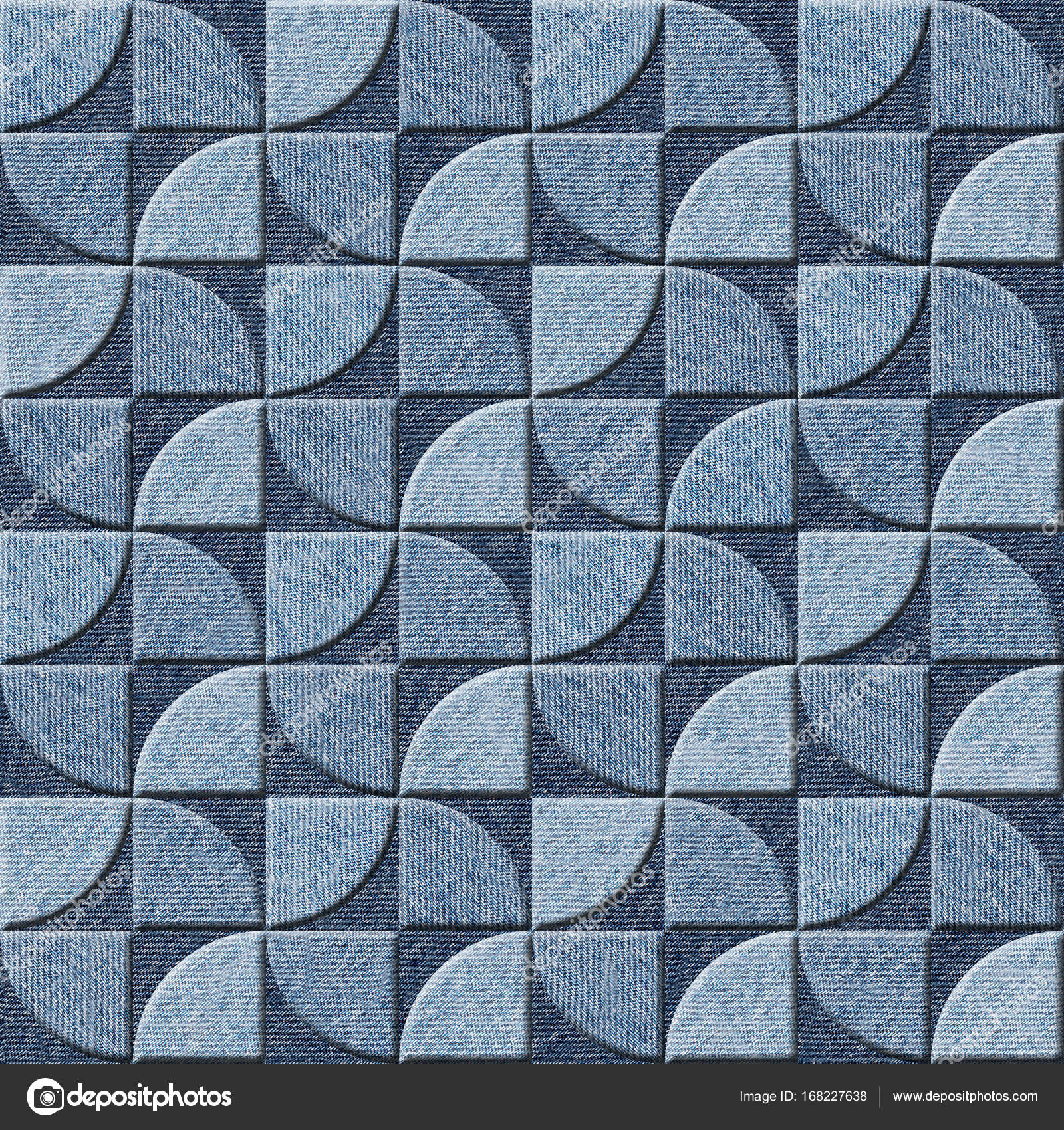 Interior wall panel pattern - seamless background - Blue jeans ...