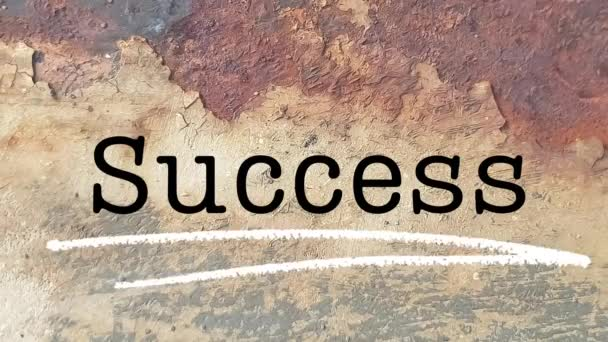Success word busines coach presentation