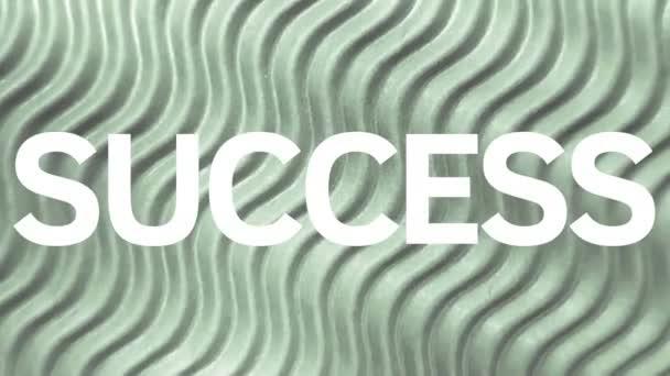 Success word business coach presentation