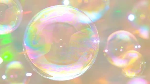 Mýdlové bubliny lesklé barvy odraz bublinková bublina