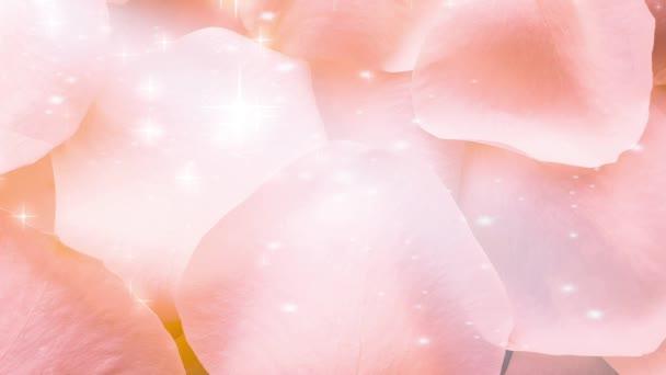 Rosa Rosenblätter glänzenden Hintergrund