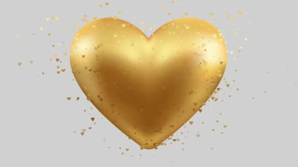 zlaté srdíčko srdíčka pozadí animace