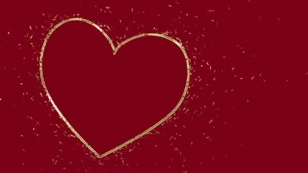 Csillogó csillogó szív szerelem animáció