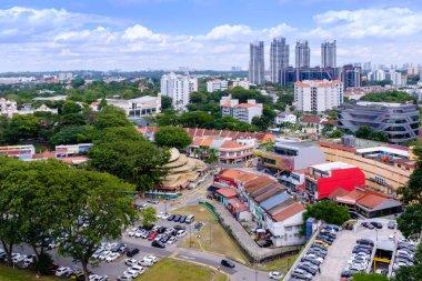 Singapore-22 DEC 2017:Singapore Holland village area center Aerial day View