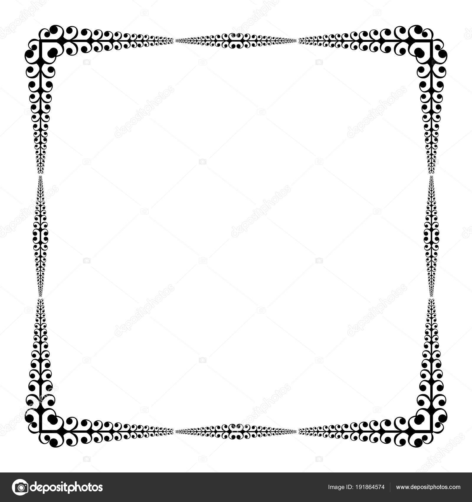 Vintage Vektor Rahmen Und Grenze — Stockvektor © Lucaso #191864574