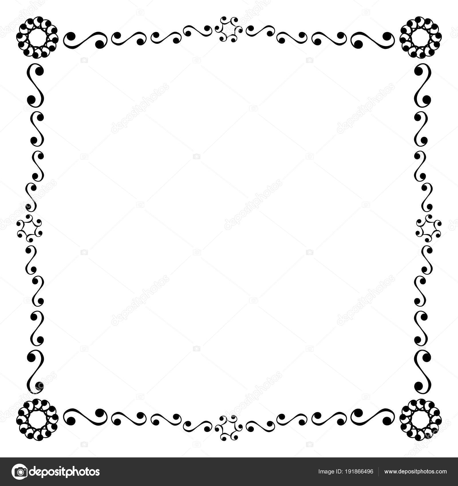 Decorative Frame Border Retro Vintage Design — Stock Vector © Lucaso ...