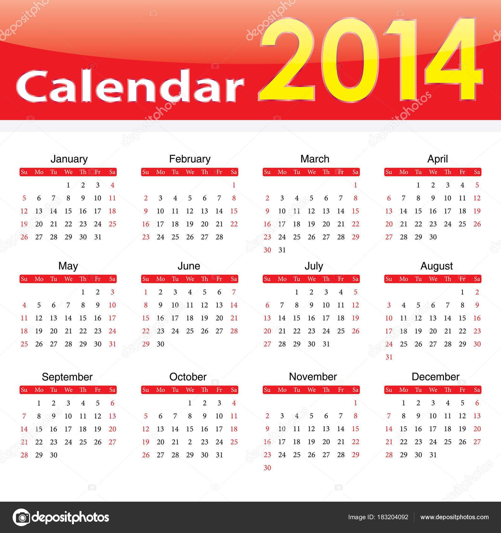 Atractivo Planificador Anual Plantilla 2014 Motivo - Ejemplo De ...