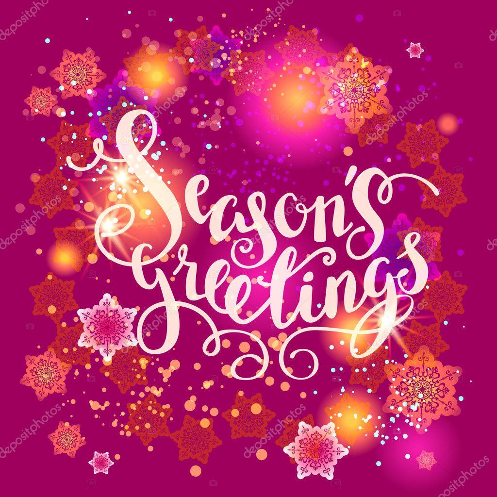 Seasons greetings lettering card stock vector paprika 125183616 seasons greetings lettering card stock vector kristyandbryce Choice Image