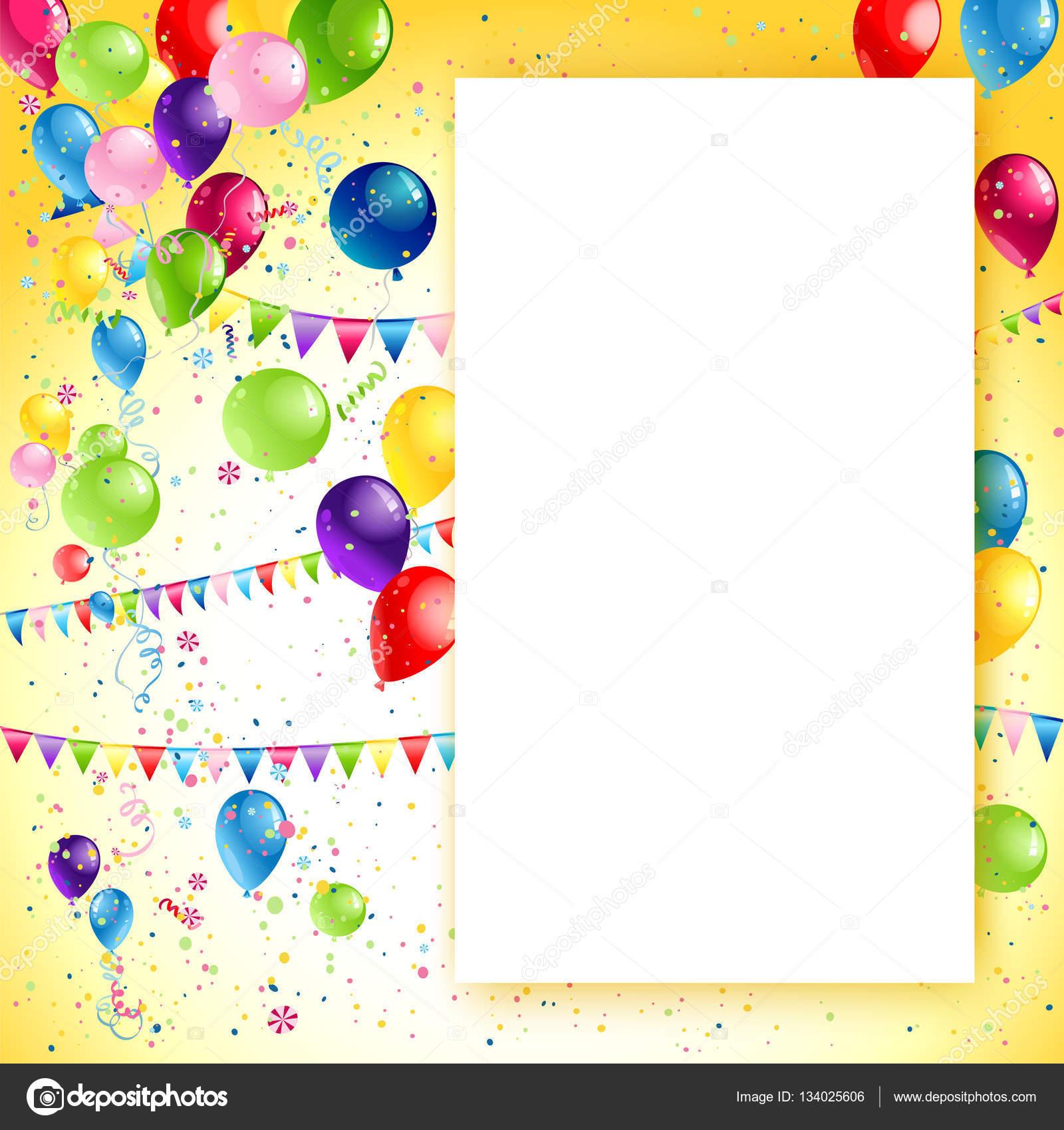 Marco de cumpleaños vacaciones — Archivo Imágenes Vectoriales ...