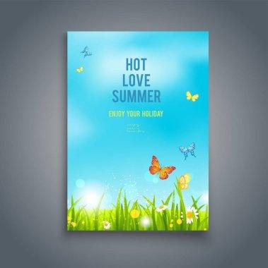 Nature summer template