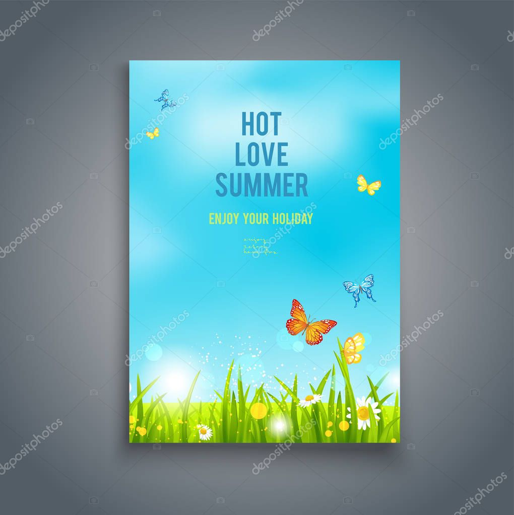 Nature summer template