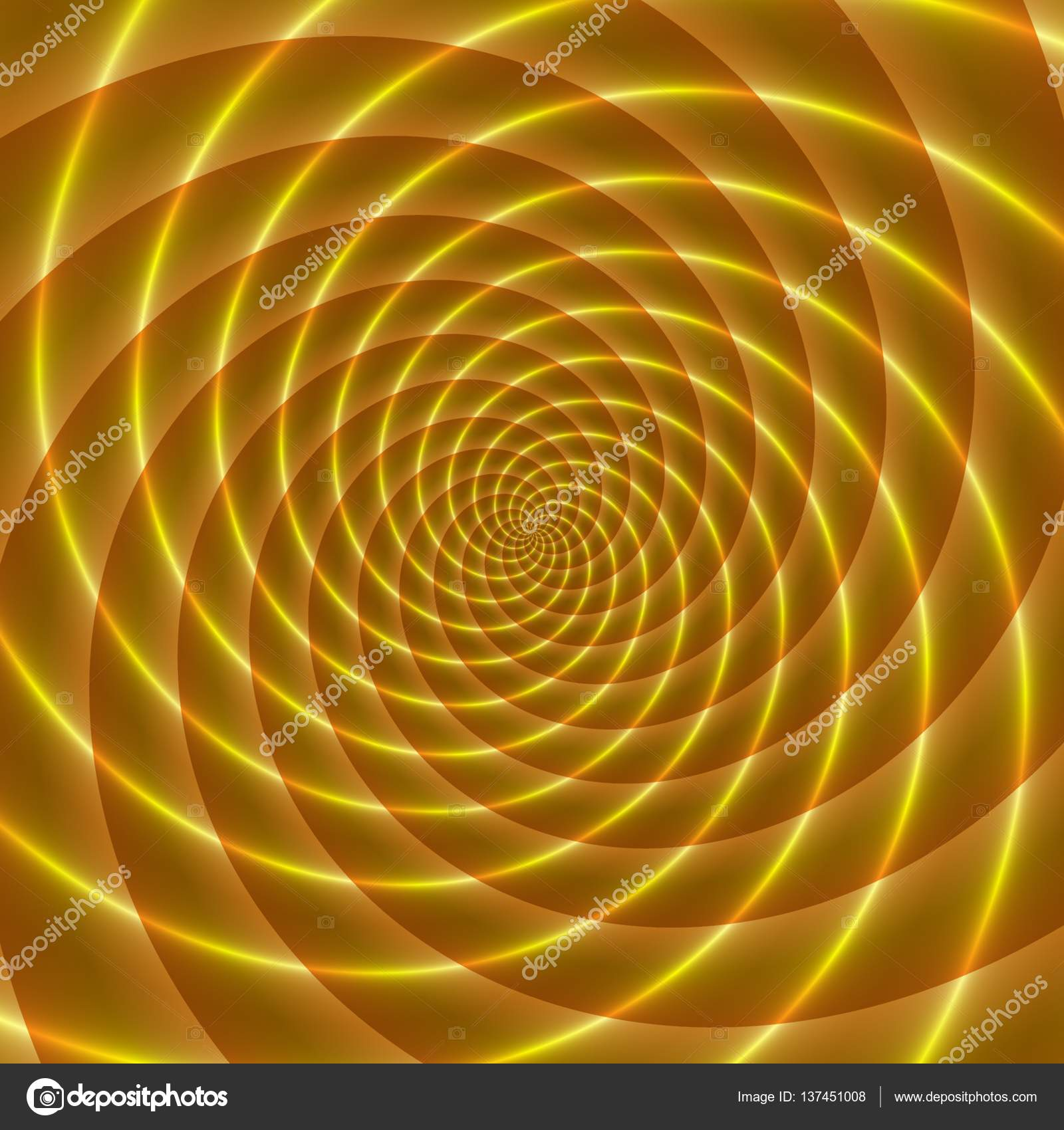 golden rays abstract illustration of bright yellow orange spirals stock photo
