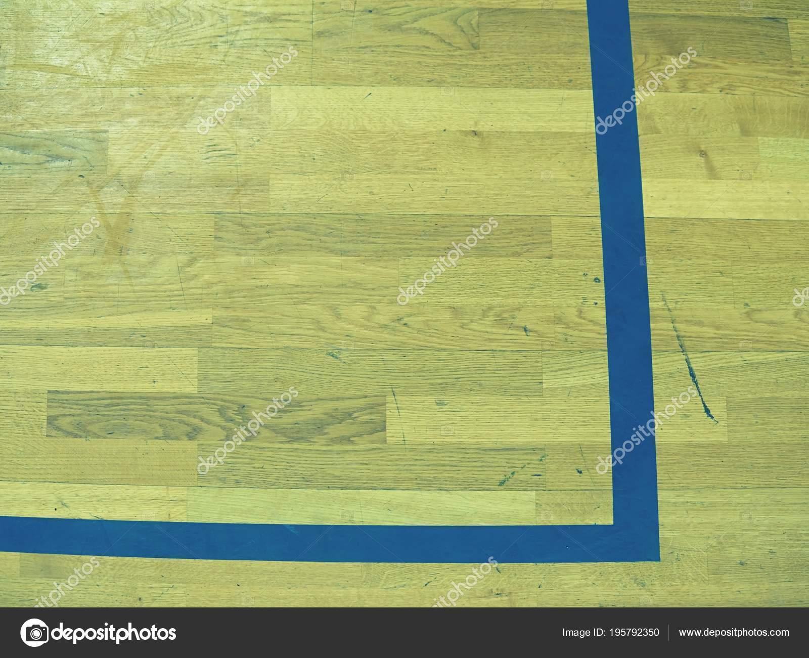 Geschilderde houten vloer parket hardhout basketbalveld het woord