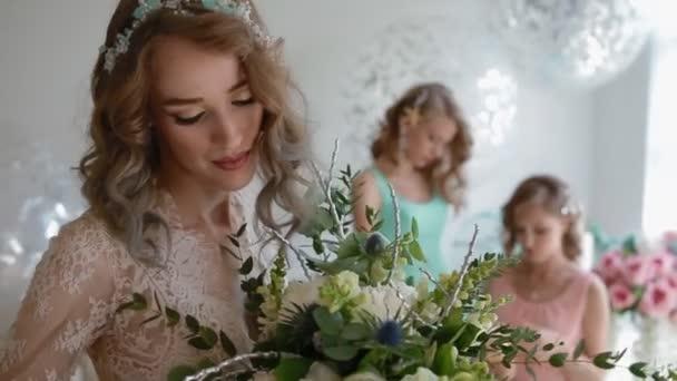 Portrét nevěsty a družičky