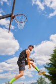 high-repülő és pontozási kosárlabdázó