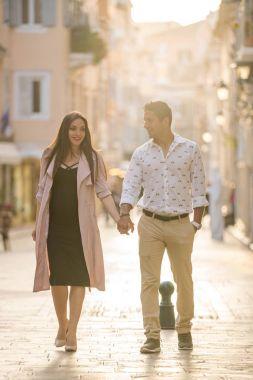 Tourist couple in love
