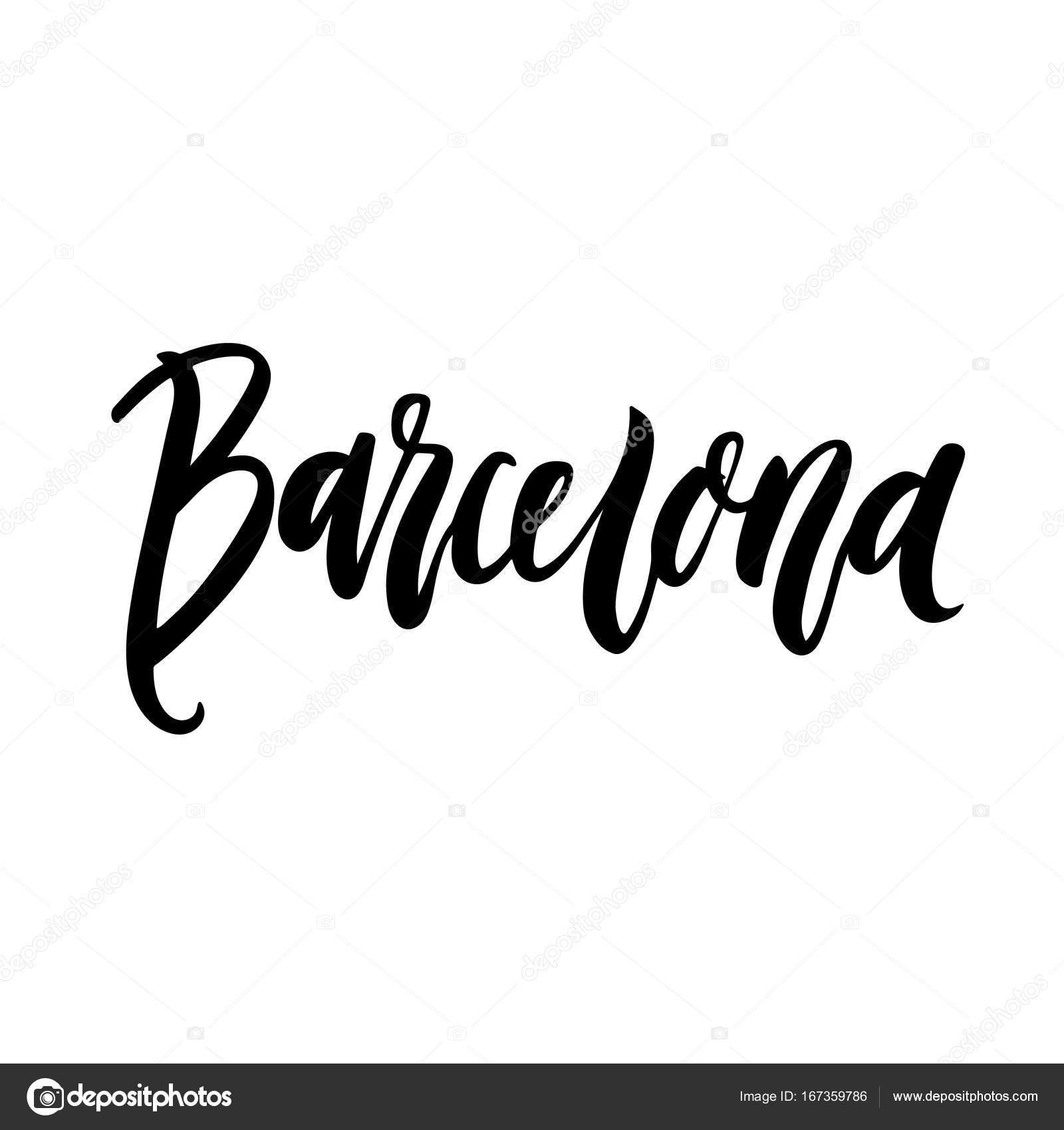 Dibujos La Ciudad De Barcelona La Inscripción Barcelona Nombre