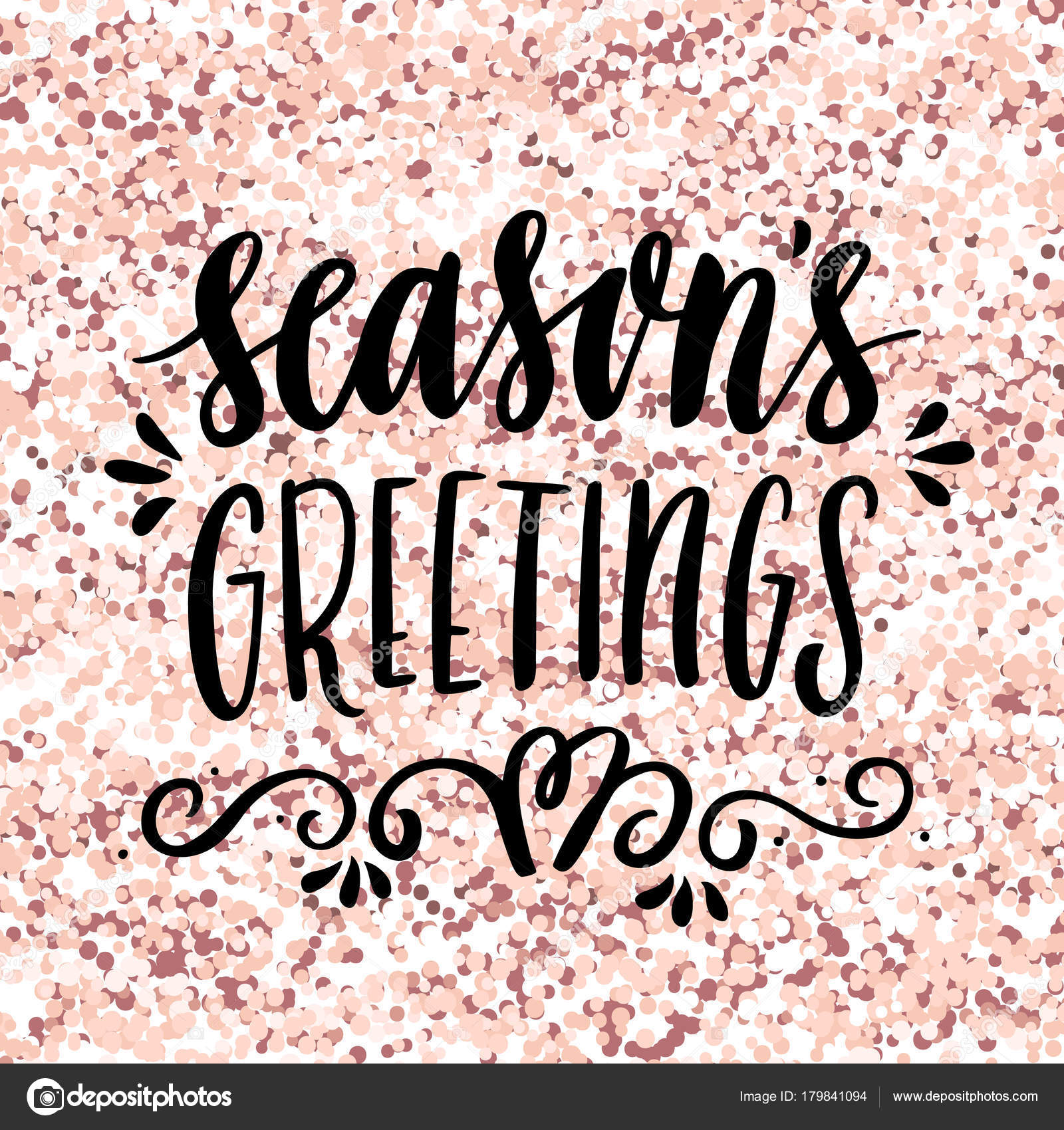 Hand drawing quote season greetings pink gold glitter background hand drawing quote season greetings pink gold glitter background merry stock vector m4hsunfo