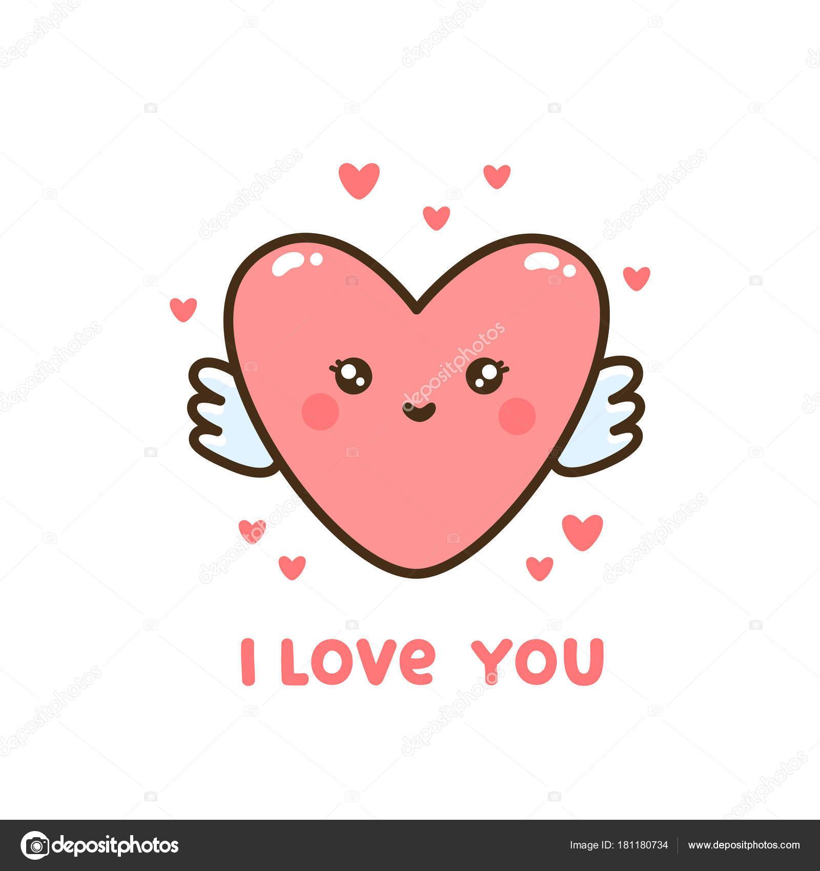 Süße Herzen Mit Zitat Ich Liebe Dich Kann Für Aufkleber ...