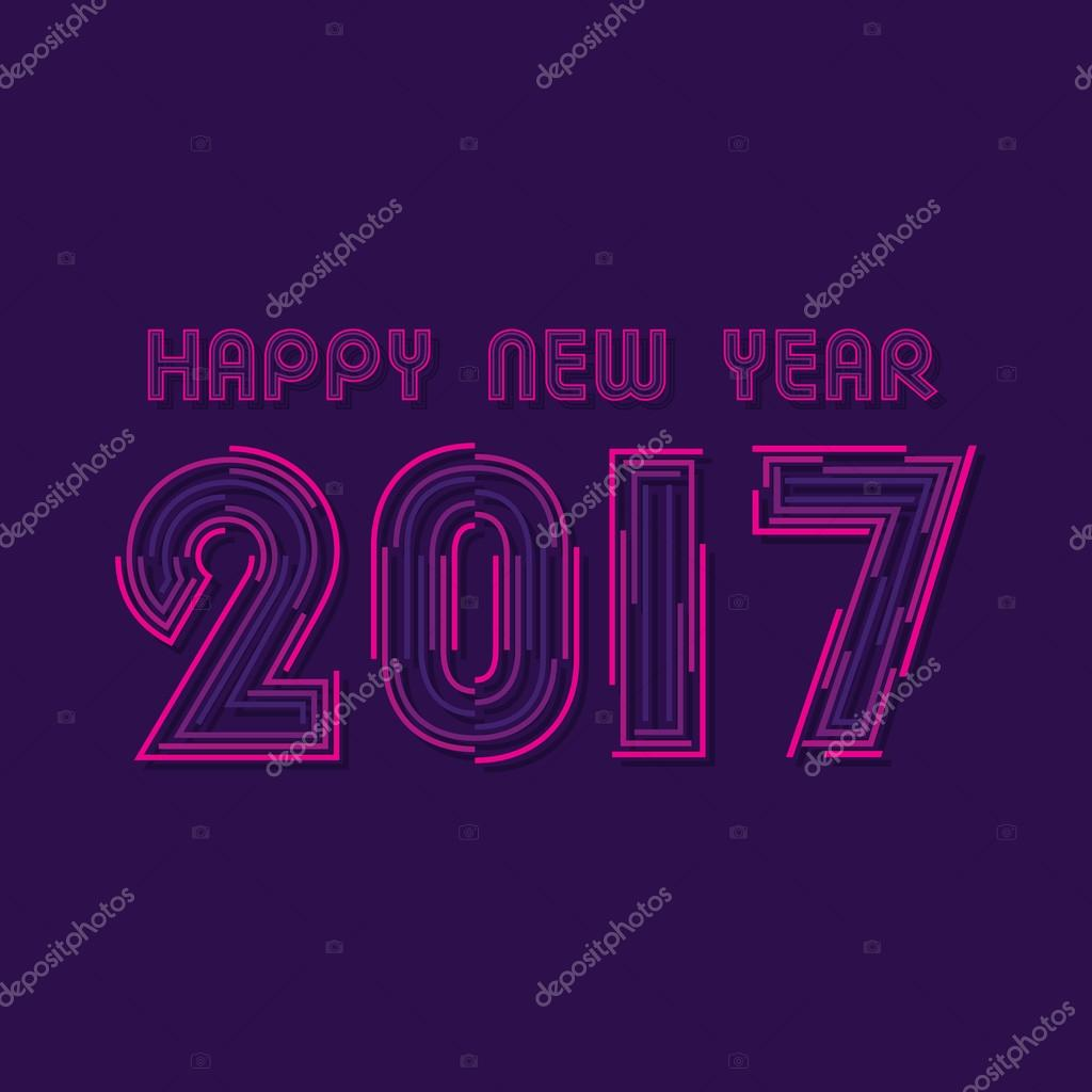 kreative Neujahrs-Begrüßung — Stockvektor © vectotaart #125174204