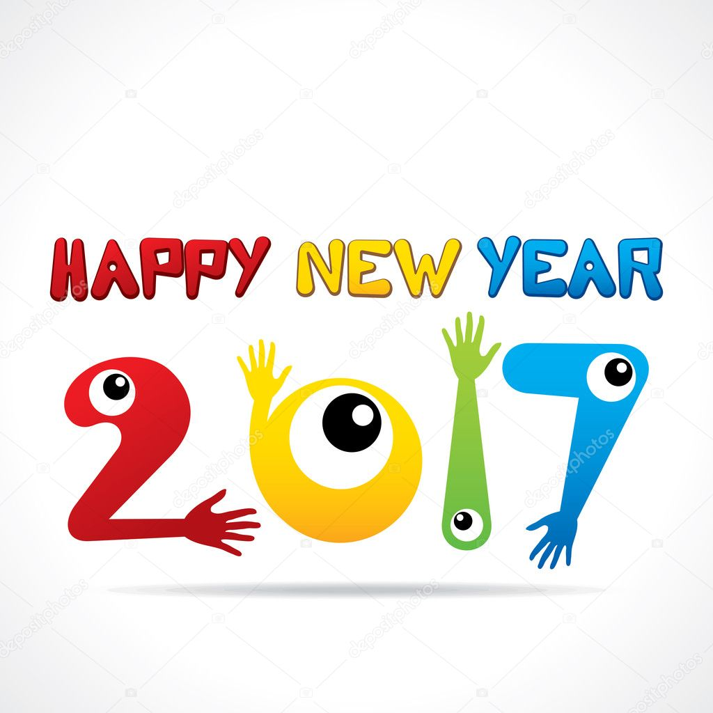 kreative Neujahrs-Begrüßung — Stockvektor © vectotaart #125175652