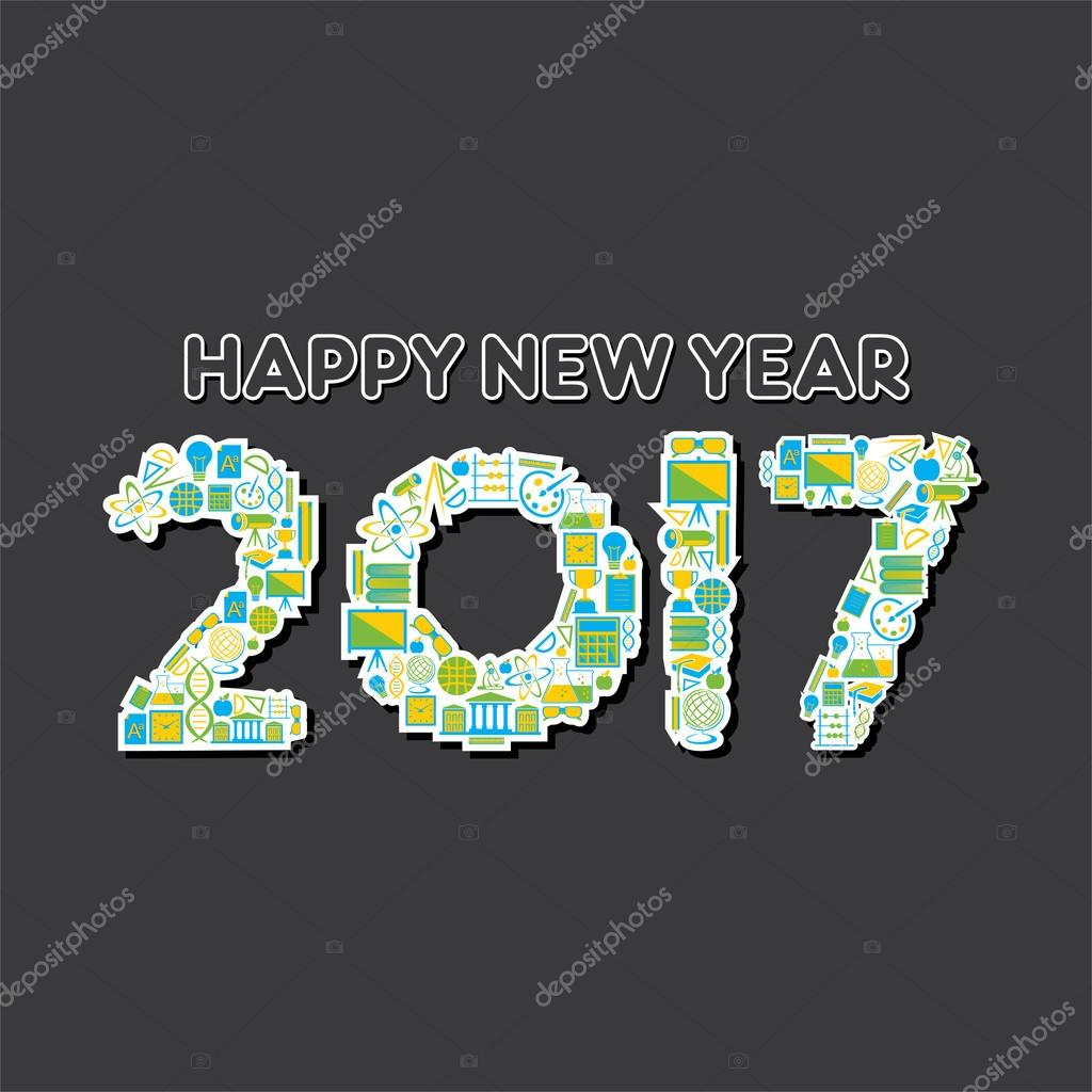 kreative Neujahrs-Begrüßung — Stockvektor © vectotaart #125176456
