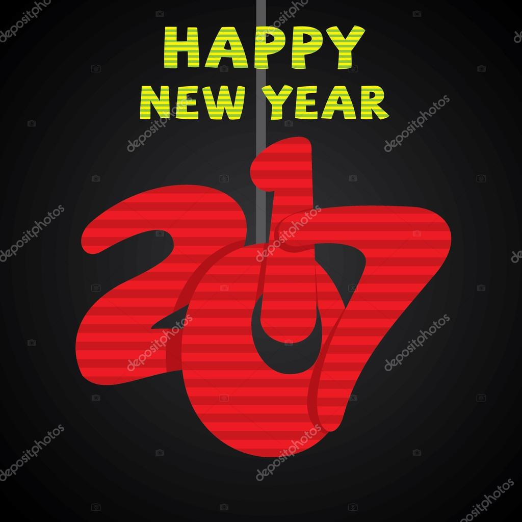 kreative Neujahrs-Begrüßung — Stockvektor © vectotaart #125177654