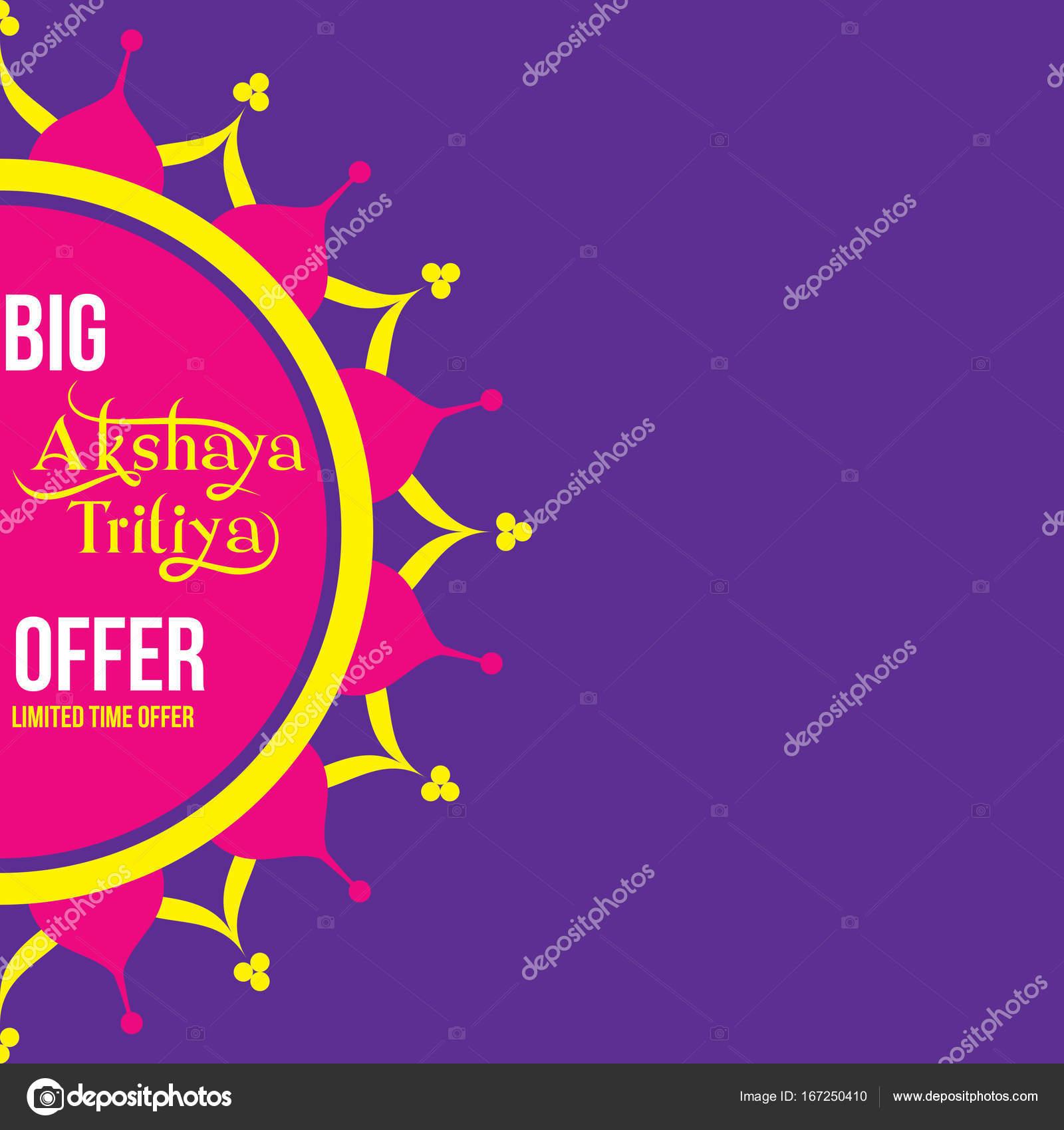 Creative Akshaya Tritiya Offer Template Design Stock Vector