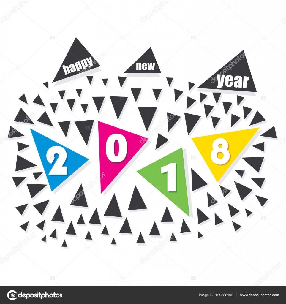 happy new year 2018 poster design — Stock Vector © vectotaart #169888192