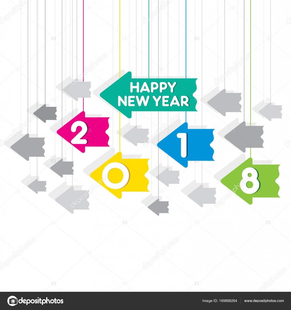 Frohes neues Jahr 2018-Poster-design — Stockvektor © vectotaart ...