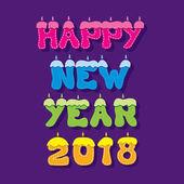 šťastný nový rok 2018 pozdrav designu