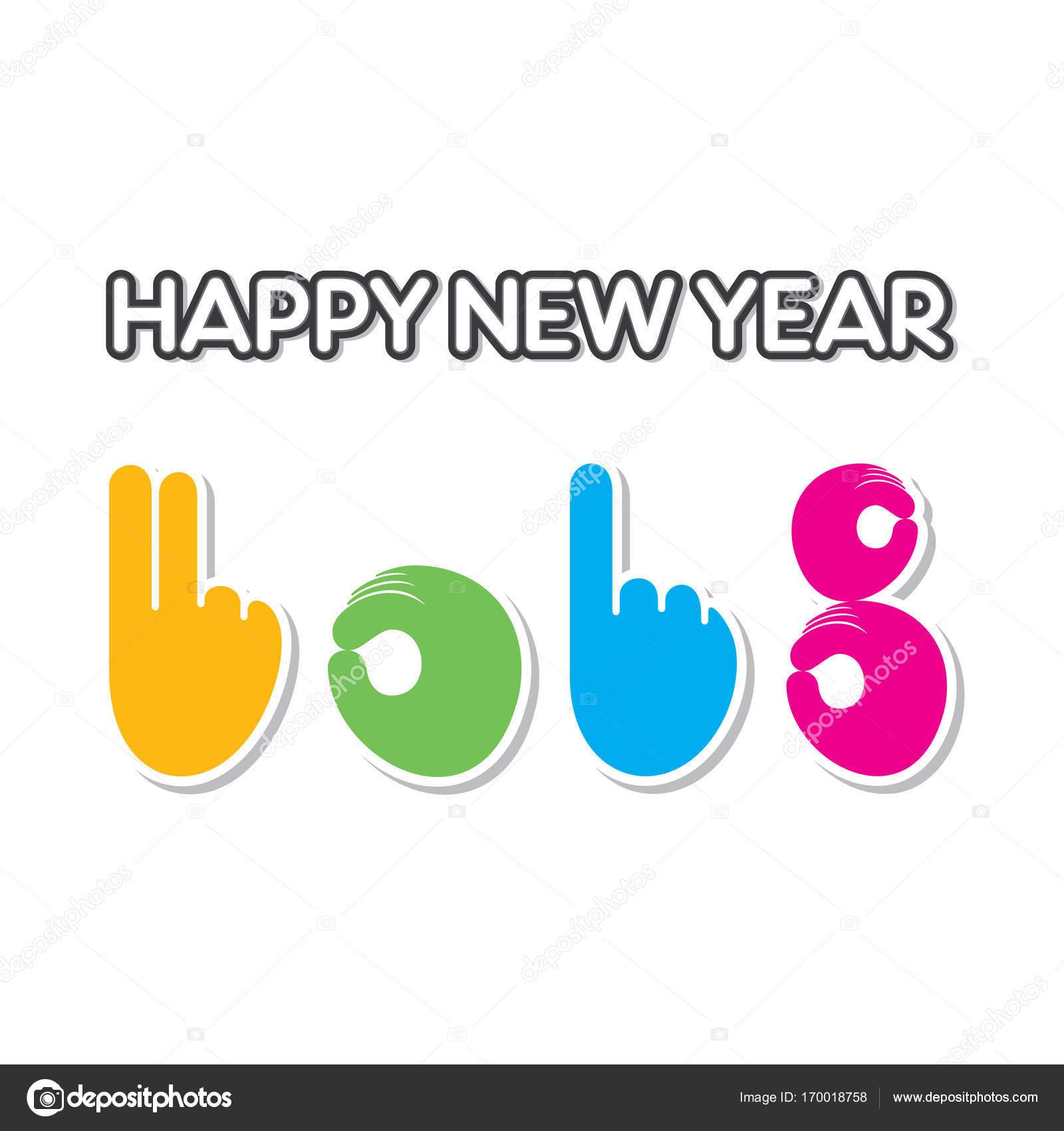 happy new year 2018 poster design — Stock Vector © vectotaart #170018758