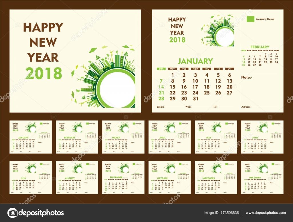 year calendar 2018 template