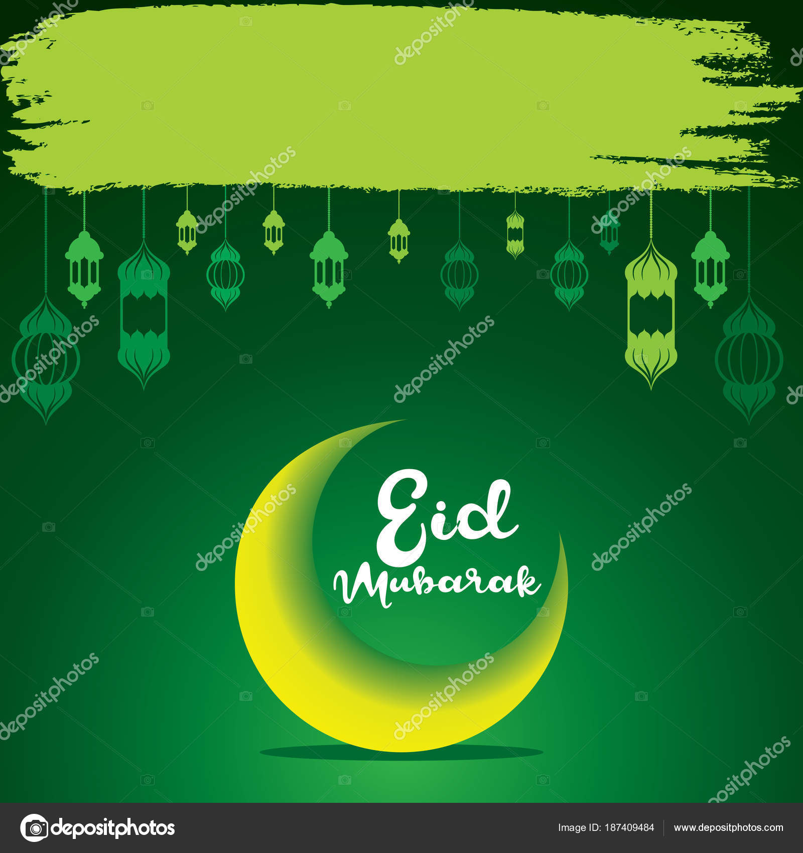 Depositphotos Stock Illustration Happy Eid Mubarak Greeting Design Creative Festival Vector By Vectotaart