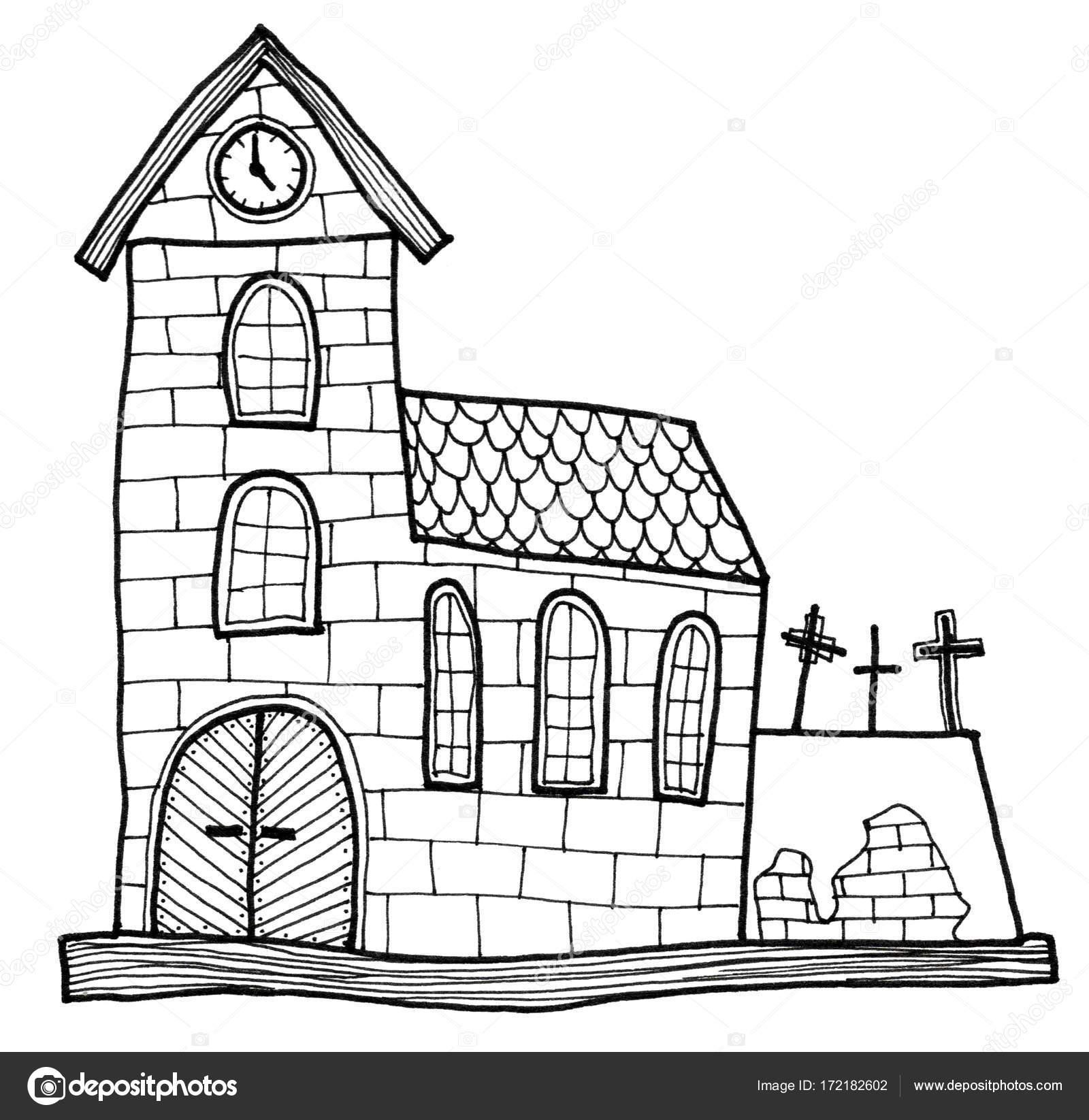 Imágenes Iglesias Antiguas Para Dibujar Vieja Iglesia Y Pared