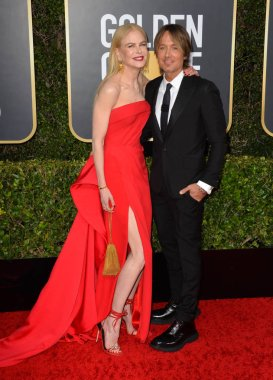 LOS ANGELES, USA. January 06, 2020: Nicole Kidman & Keith Urban arriving at the 2020 Golden Globe Awards at the Beverly Hilton Hotel