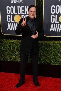 LOS ANGELES, USA. January 06, 2020: Quentin Tarantino arriving at the 2020 Golden Globe Awards at the Beverly Hilton Hotel