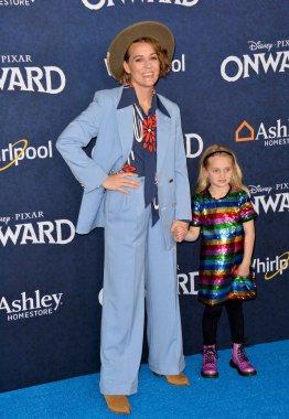 LOS ANGELES, CA: 18, 2020: Brandi Carlile & Evangeline Ruth Carlile at the world premiere of