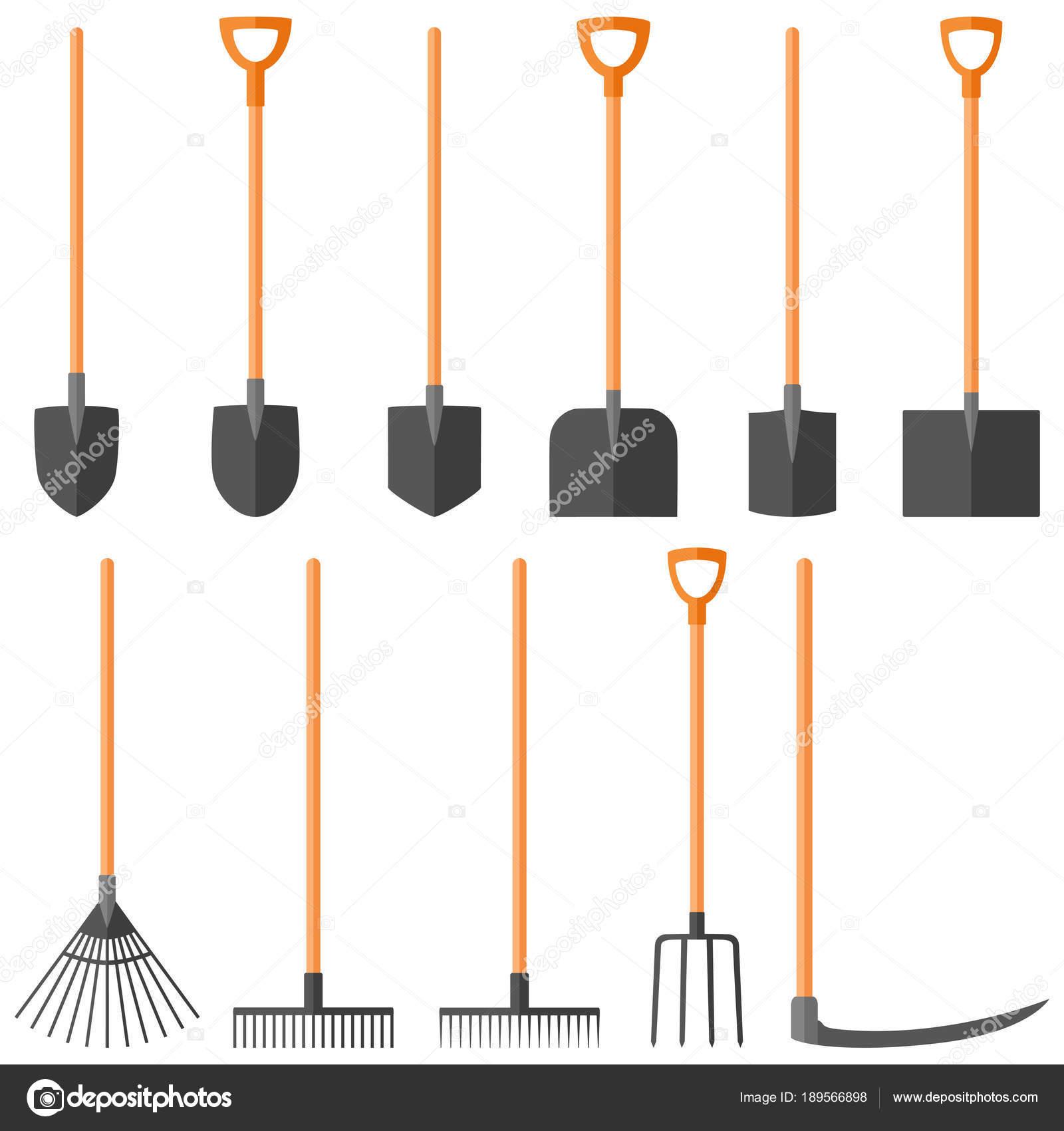 Ensemble d\'outils de jardinage, illustration vectorielle — Image ...