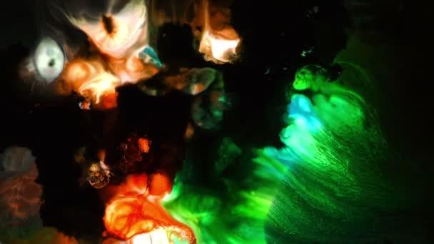 Abstraktní barevné barvy inkoustu kapaliny explodovat difúze psychedelické Blast hnutí
