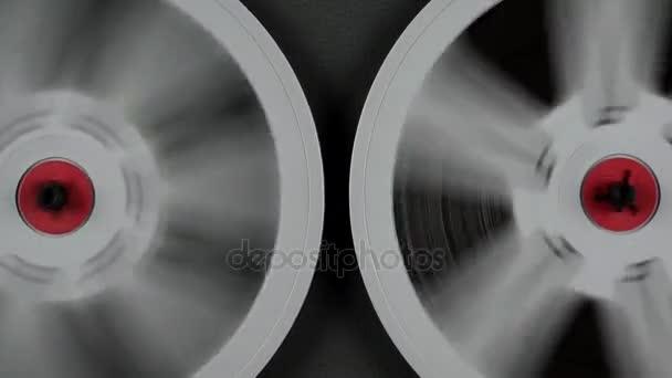 337ee808a291ac Vintage Tape Recorder Music Film Rolling — Stock Video © okanakdeniz ...