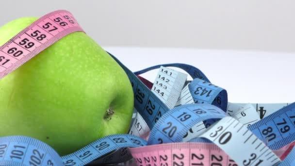 Apple and Measurement Diet Fit Life Concept