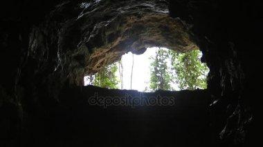 Waterfall inside the Dark Cave