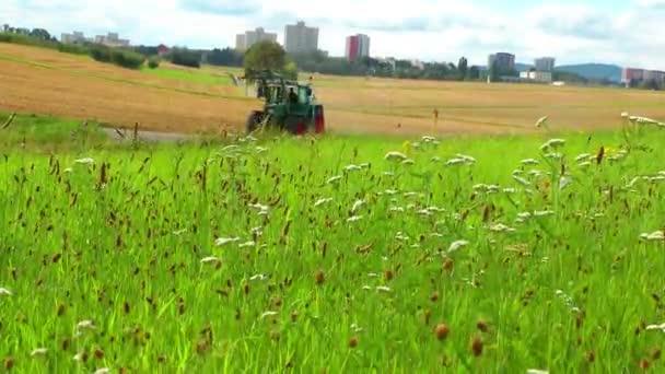 Farmer Truck in Green Field