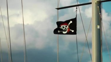 The Pirate flag on Boat