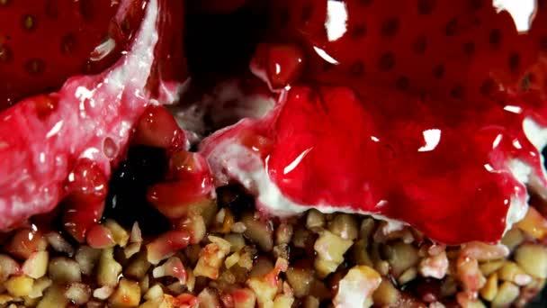 leckerer süßer Erdbeerkuchen