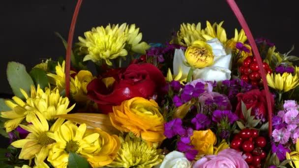 Színes romantikus Flora Virágok